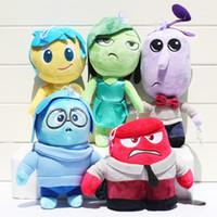 iç film toptan satış-Inside Out peluş oyuncaklar Film Öfke Peluş Dolması oyuncak Bebek Inside Out oyuncaklar bebek için hediye