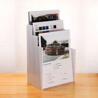 Wholesale Perspex Display Stand - 3 slots Literature Display Holder Leveled Perspex Display Stands