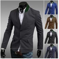 Wholesale Korean Tuxedo Jackets - Wholesale-Men Blazer Designs Korean Suit Mens Jackets And Coats Blazer Brand Men Corduroy Blazer 2015 Casual Tuxedo Jacket Classic Suit