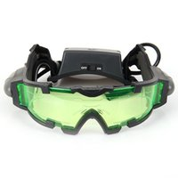 Wholesale Adjustable Vision Glasses - Portable Sport Camping Equipment Green Lens Adjustable Night Vision Goggles Glasses Eyewear With Flip-out Light