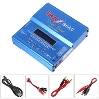 Wholesale Digital Balanced Charger - Charger for airplane 80W IMAX B6AC Lipo   Nimh   Nicd RC Battery Balance Charger   Discharger with Digital LCD Screen AFD_303