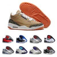 dj caliente al por mayor-Hot 3 x DJ Khaled Grateful Mens zapatos de baloncesto fire red 3s zapatillas de deporte de calidad superior para hombre eur 41-47