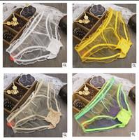 Wholesale Sexy Transparent Thongs For Women - 18 colors Sexy panties underwear for women lingerie sexy briefs transparent mesh panties women mesh thongs ladies underpants briefs mm104