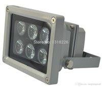 Wholesale Ir Illuminator For Camera - Free shipping 15,30,45,60,90degrees Array IR illuminator infrared lamp 6pcs ArrayLed IR Light Outdoor Waterproof for CCTV Camera