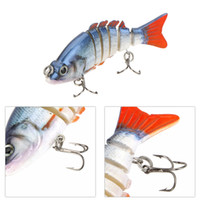 black minnows - 85mm g quot segement Multi Jointed Lifelike Hard Fishing Lure Minnow Lure Swimbait Bait Treble VMC Hooks Black Blue Y0066
