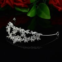 Wholesale Princess Kate Tiara - Kate Princess Crystal bride hair accessories wedding tiaras and crowns for women pageant crowns head jewelry free shipping