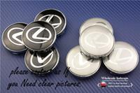 Wholesale Wholesale Wheel Trims - 4pcs 60mm car wheel center hub cap sticker logo badge wheel trims fit Lexus exterior accessories 3D sticker freeshipping