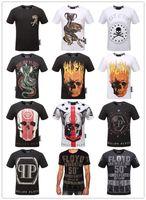 Wholesale European T Shirts Men - Summer Men'S Fashion Brand PP Short Sleeve T Shirt Men Casual Solid Color High Quality Skulls Sports Camisetas T-Shirt #88888888888