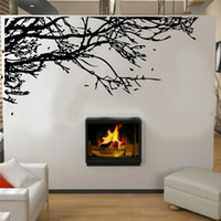 Wholesale Tree Branch Wall Decals Removable - Large 83*200 cm Stunning Black Tree Branch Removable Wall Art Stickers DIY PVC Vinyl Decals Mural Home Decor Decoration