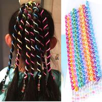 Wholesale plastic accesories resale online - Kids Curler Hair Braid Hair Sticker Baby Girls Decor Hair Accesories