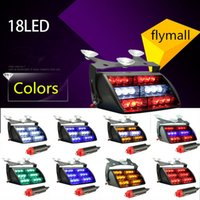 Wholesale Led Emergency Vehicle Light Wholesale - 18 LED Strobe Light Flashing Emergency Car Truck Light Signal Lamp Personal Emergency Vehicle Windshield Strobe Dash Warning Light DHL free