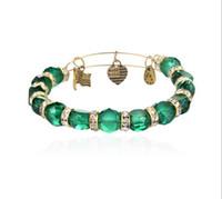Wholesale Alex Ani Beaded - Europe selling DIY jewelry Alex and Ani style crystal beaded bracelet Crimson Eden EH223