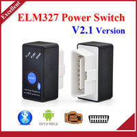Wholesale Power Windows Honda - High quality Super Mini Bluetooth ELM327 V2.1 OBD2 Diagnostic Scanner With Power Switch Work on Android Symbian Windows ELM 327