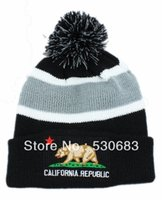 Wholesale California Beanies - Wholesale-Free shipping! New arrival CALIFORNIA REPBULIC Beanie hats Men's top quality winter Knitted caps fashion headwear hat Cheap