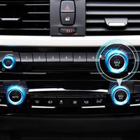 bmw audio großhandel-Auto Styling Klimaanlage Knöpfe Audio Kreis Trim Abdeckring Für BMW 1 2 3 4 5 6 7 Serie GT X1 X5 X6 F30 F32 F34 F10 F15 F45 F01 E70 E71