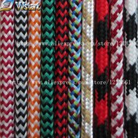 Wholesale Electric Wires - Wholesale-2*0.75 Copper Cloth Covered Wire Vintage Style Edison Light Lamp Cord Grip Twisted Fabric Lighting Flex Electric Cable