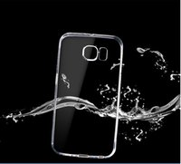 Pour bord Galaxy S7 G930 / G935 S7 S6 Top qualité Cases Transparent Ultra Thin Crystal Clear TPU Soft Gel Phone Housse Case