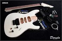 Wholesale Electric Guitar Kits Mahogany Body - DIY Electric Guitar Kit Set-In Solid Mahogany Body Neck Flamed Maple Veneer