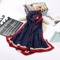 tartan schal koreanisch großhandel-Herbst und Winter neue koreanische Gitter wilde Baumwolle Schal Dame Wrap Farbe Schal College Wind warme Schal Schals