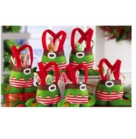 Wholesale Cloth Goody Bags - Cute Christmas Candy Bag Cloth Cartoon New Year Lovely Goody Goodie Bonbon Sweetmeat Gift Bag X19