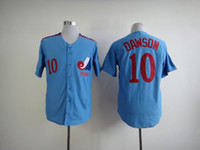 Wholesale Andre Dawson Jersey Expos - Men Montreal Expos Jerseys 10# Andre Dawson Jersey Flexbase Cool Base Home Away White Red Black Grey