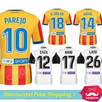 Wholesale Cf Shirt - 17 18 valencia Soccer Jersey Top thai quality 2017 2018 valencia cf Home NANI PAREJO MUNIR GAYA C.Soler Shirt