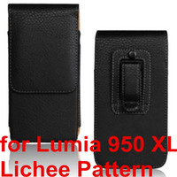 celulares da microsoft venda por atacado-Atacado para nokia lumia 950 xl moda pu leather case cinto clipe tampa do telefone móvel malote case para microsoft lumia 950 xl
