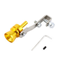 ingrosso tubo bov-Nuovo Universal Car BOV Turbo Sound Whistle Simulator Sound Pipe Tubo di scarico marmitta Gold