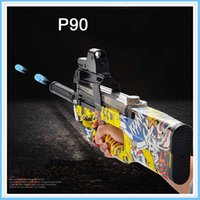 Wholesale Toy Assault Guns - P90 Electric Toy Gun Paintball Live CS Assault Snipe Weapon Soft Water Bullet Pistol with bulletsToys For Boy Weapons toy pistol