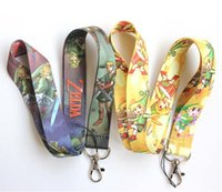 Wholesale Cell Phone Accessories Straps - Wholesale - ZELDA Neck Lanyard Mobile Multicolor Phone Accessories Cell Phone Camera ID Card Neck Straps Lanyard Gifts