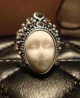 Wholesale Opera Settings - Tibetan silver Individuality retro decorative ring Semi-precious stones Peking Opera finger rings