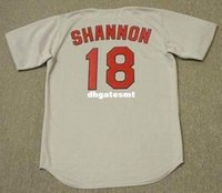 Cheap Custom MIKE SHANNON St. Louis Cardinals 1967 Majestic Cooperstown Away Baseball Jersey Retro Mens Jerseys