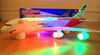 Wholesale Airline Lights - RETAIL SELLING FREE SHIPPING AIRBUS A380 AIRLINES MODEL AEROPLANE LED TOY WITH LIGHTS SOUNDS-BOY GIRL