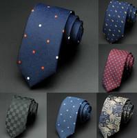 Wholesale Mens Ties 6cm - 1200 Needles 6cm Mens Ties New Man Fashion Dot Neckties Corbatas Gravata Jacquard Slim Tie Business Green Tie For Men
