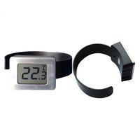 relógios vermelhos lcd digital venda por atacado-Assista Forma Digital Red Wine Termômetro Medidor de Temperatura com Dois Dígitos Display LCD DHL Fedex Frete Grátis # GH895