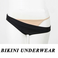 Wholesale nude women costumes online - Free Size Sexy Costume Women Sexy Lingerie Bikini Inner Underwear Nude Thong Intimate Wear Ladies Panties Invisible Private Bikini Briefs