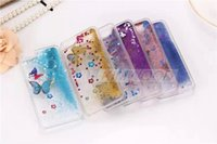 Wholesale Iphone 4s Hard Glitter Case - Glitter Stars Dynamic Liquid Quicksand With Butterfly Hard Case Cover For iPhone 6 6 plus 5S 4S Transparent Clear Phone Case