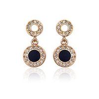 Wholesale Earring Gold Plated Italina - ITALINA Jewelry wholesale 18 k gold plated with Austrian crystal high-end fashionable earrings for woman