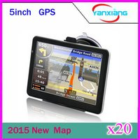 Wholesale Tft Gps Navigation - 20 pcs 5inch GPS Navigation 5inch' Digital GPS High Resolution TFT screen MP3 MP4 FM Bluetooth 4GB with map ZY-DH-01