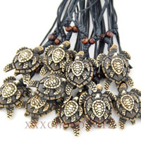Wholesale Lots 12pcs Hawaiian Style Brown Tortues marines Collier pendentif mère et enfant Lucky Gift