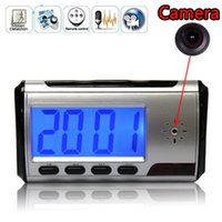 Wholesale Camera Motion Clock - Mini camera DVR alarm clock camcorder Spy Camera DVR Hidden HD Camera vedio recorder Motion Remote Control free shipping