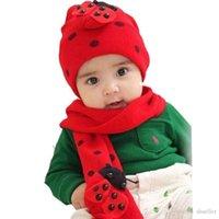Wholesale Beatles Scarf - Amazing Fashion Beatles baby hat cap scarf twinset Cotton Beatles hat children hat+scarf A5