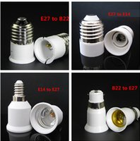 Wholesale E27 Cfl Bulbs - LED Bulb Base Adapter E27 to E14  E14 to E27 E27 to B22 B22 to E27 Converter for LED Halogen CFL Light Bulb Lamp Holder LED Lamp Bases
