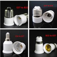 adaptateur halogène cfl achat en gros de-Adaptateur de base pour ampoule LED E27 à E14 / E14 à E27 / E27 à B22 Convertisseur pour support d'ampoule à halogène CFL Base de lampe à LED