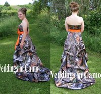 Wholesale Camo Evening Gowns - Hot! 2016 2016 Ball Gown Camo Strapless Prom Long Evening Gown Prom Party Dresses Lace Up Vestidos De Festa