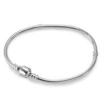 Wholesale Silver 925 Bracelets Chains - silver 925 Chains European bracelets for women fit charms Locket beads pendant Jewelry Making 17-23cm XPS