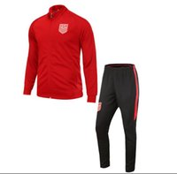 Wholesale Tracksuits Men Usa - 2018 usa red Tracksuit soccer jerseys 2017 2018 Top Thailand training Jackets di maria football jerseys sets
