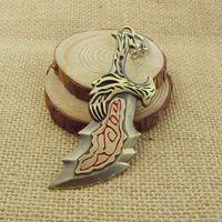 Wholesale God War Blades - New God of War Kratos Blades of Chaos Athena Sword KeyChain 12 Pcs lot Free Shipping