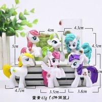 Wholesale Plush Mlp - 6 pieces   set 4-5cm 60g very cute mini model little pvc figures poni toy mlp doll