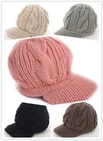 Wholesale Ladies Wool Church Hat - Winter Hats Winter Hat Knight Fashion Womens Lady Winter Warm Knitted Crochet Slouch Baggy Beanie Hat Cap 136 Beanie Hat